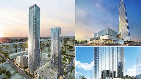 Строительство небоскреба было начато в 2013 году
