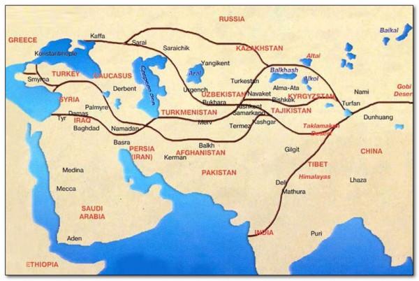 Схема Шелкового пути