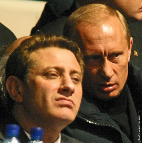 Борис Ротенберг с Владимиром Путиным