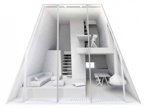 Первобытный Симбиоз, дизайн внутреннего помещения