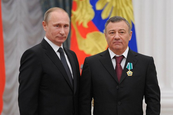 Аркадий Ротенберг с Владимиром Путиным