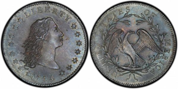 Является первой серебряной монетой США номиналом в 1 доллар