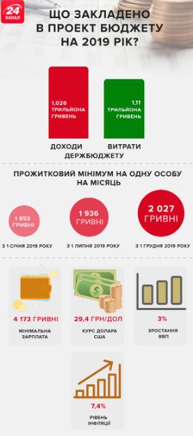 Инфографика госбюджета 2019