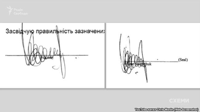 Оригинальная подпись Шемчука