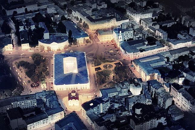 Крыша здания будет прозрачной