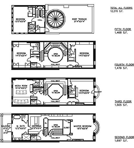 План 6-этажного здания