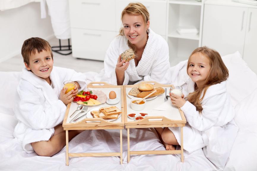 Утро с детьми - самое радостное время дня, заявляют успешные люди