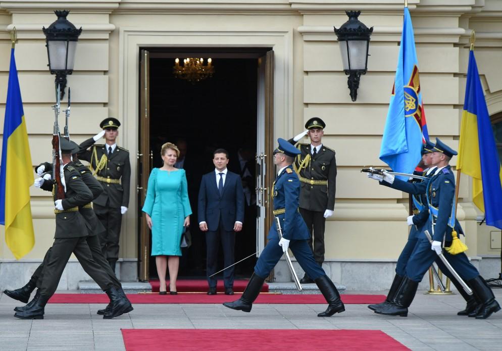 Президент Словакии прибыла в Украину с официальным визитом