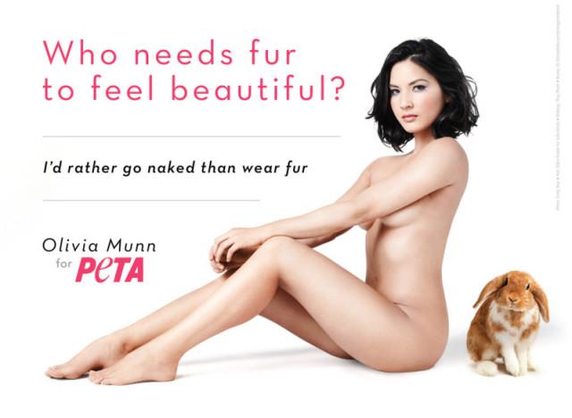 Оливия Манн в рекламе PETA