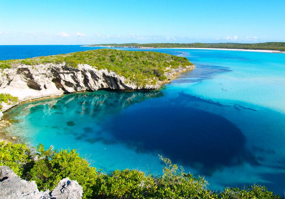 Голубая Дыра Дина на Багамах - самая глубокая в мире
