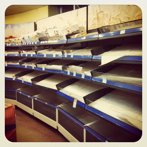 Хлебный отдел в Сильпо 23 марта