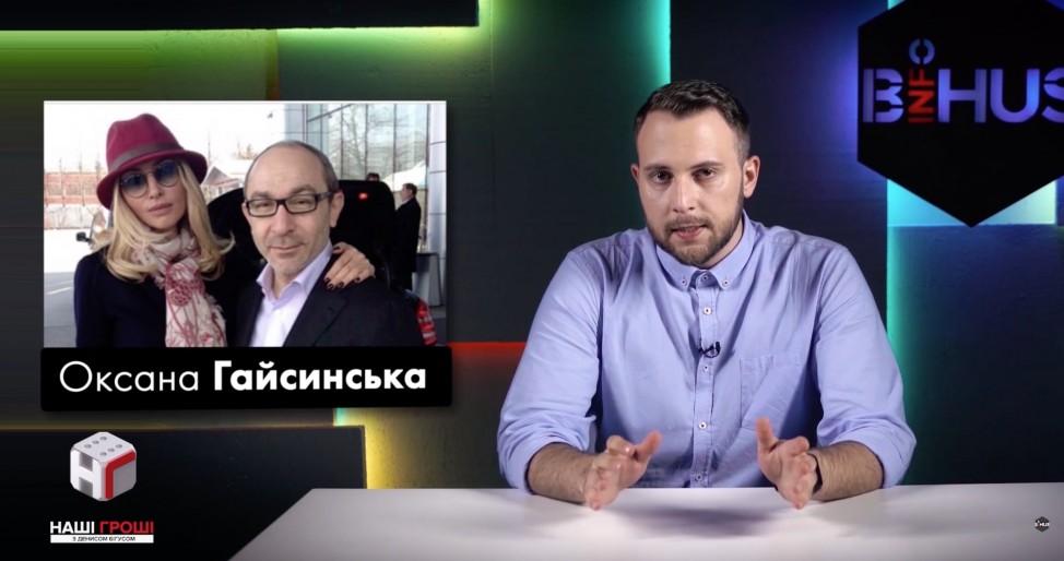 Гражданская жена Кернеса Оксана Гайсинская ни разу не попала в его декларации со своими активами