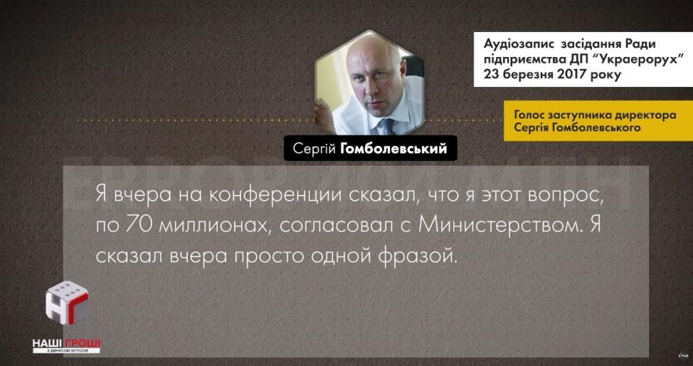 Аудиозапись Гомболевского о депозите на Платинум банк