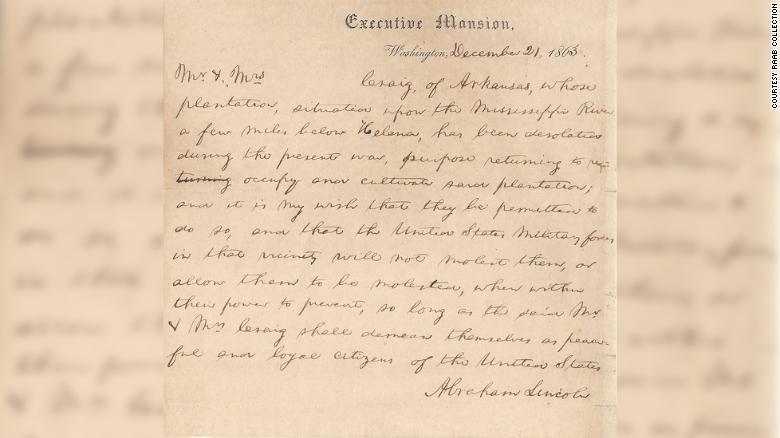 Письмо было призвано помочь родственникам жены Линкольна