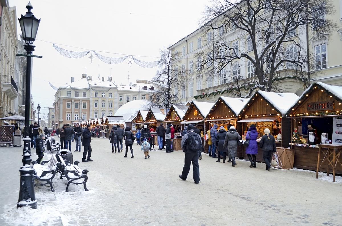 Новый год во Львове. Рождественская ярмарка