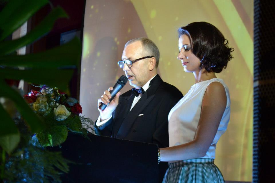 Юрий Макаров и Анна Гомонай - ведущие вечера