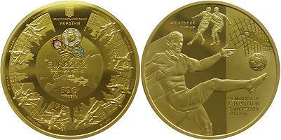 Золотая монета Финал ЕВРО-2012, 500 гривен