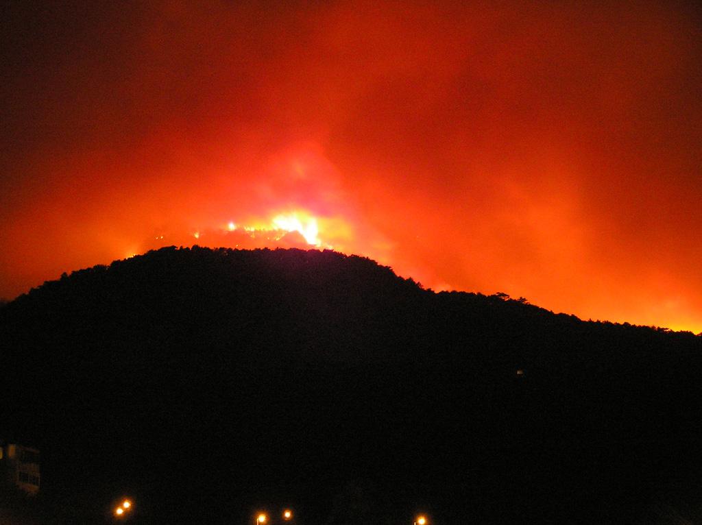 Пожар на Ай-Петри в 2007 году