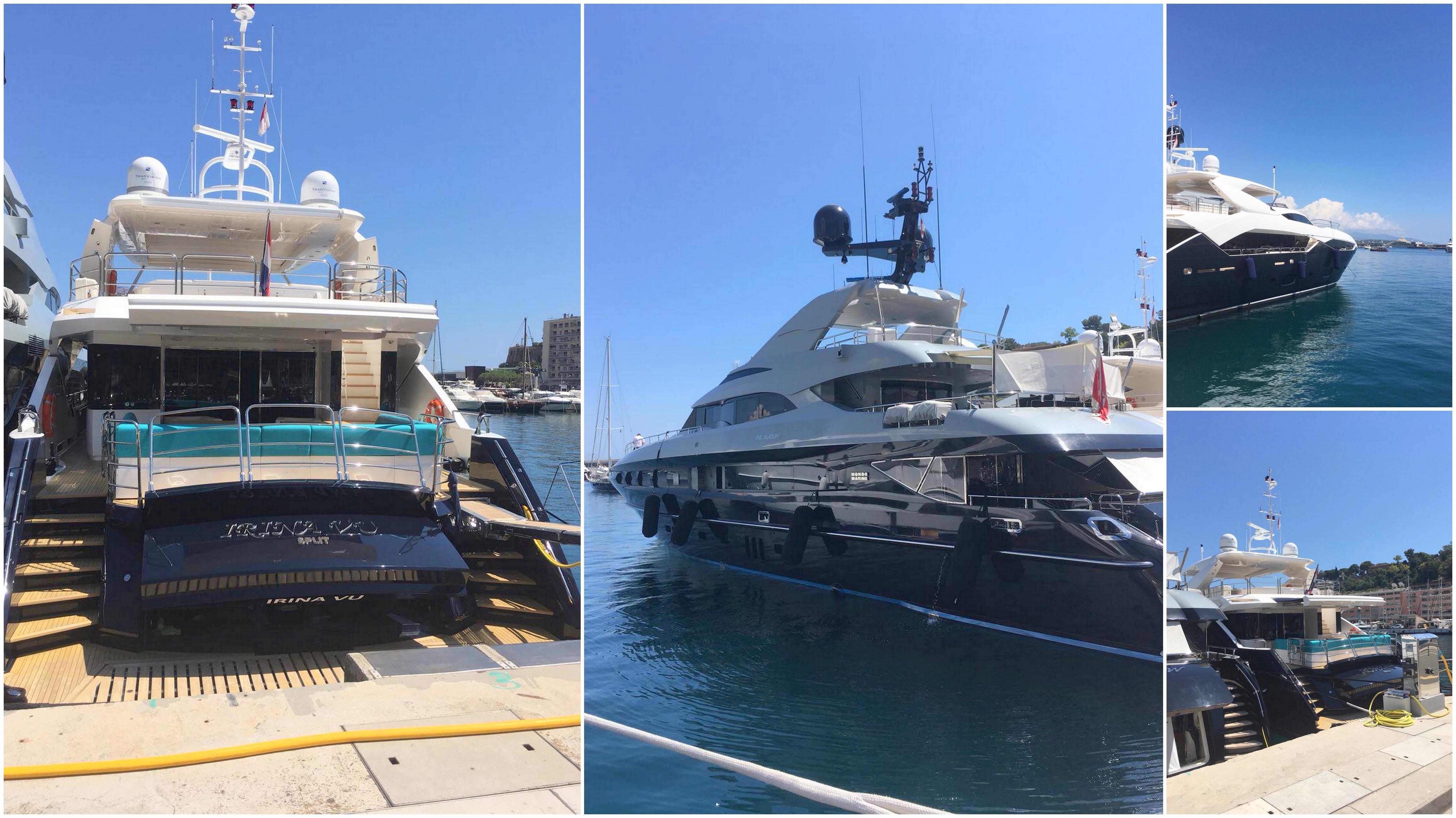 Яхты в марине Монако