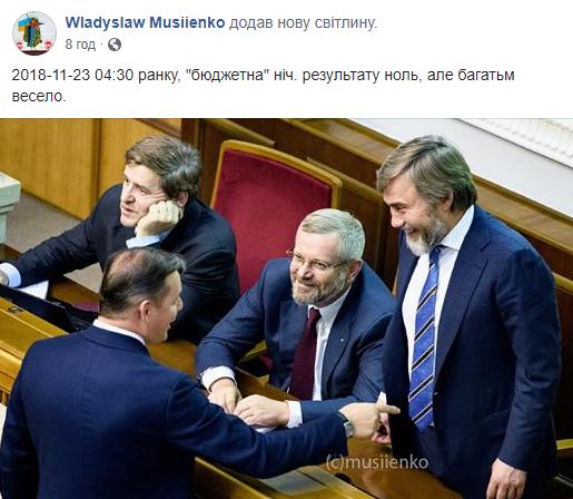 Пост Владислава Мусиенко