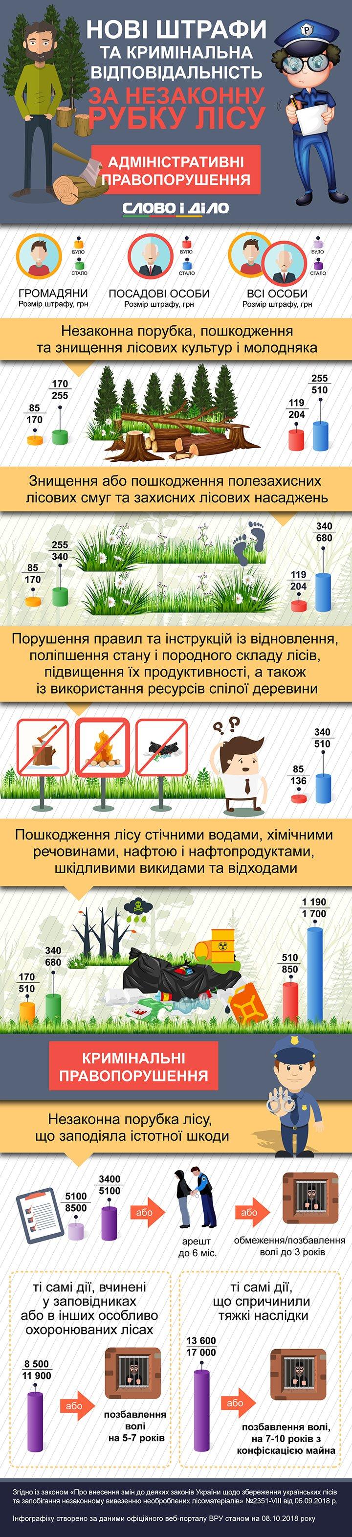Сколько заплатят нарушители за незаконную вырубку леса в Украине