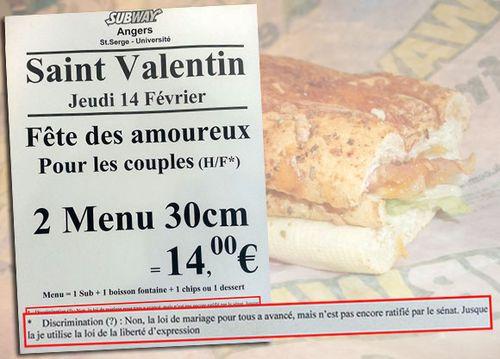 Владелец ресторана делал скидку на День святого Валентина только влюбленным гетеросексуалам