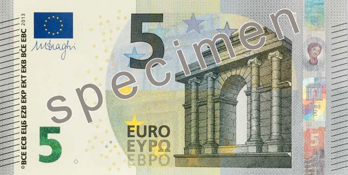 Новая банкнота достоинством 5 евро