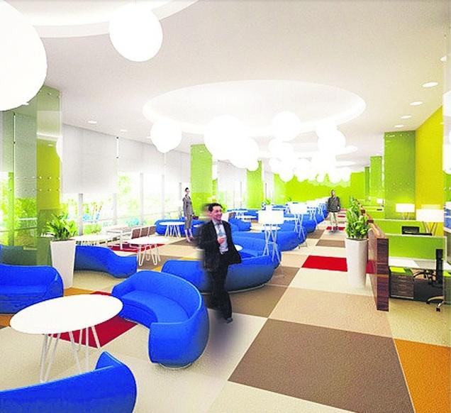 Коворкинг: пространство для совместной работы. Популярен у компьютерщиков и бизнесменов