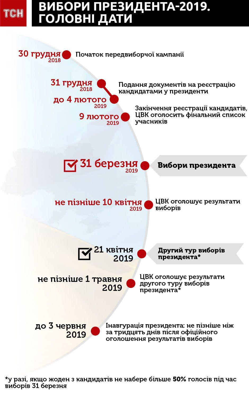 Первый тур выборов состоится 31 марта 2019 года