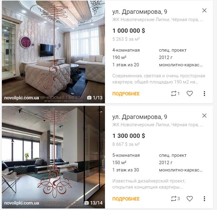 Цены на квартиры на Новопечерских липках