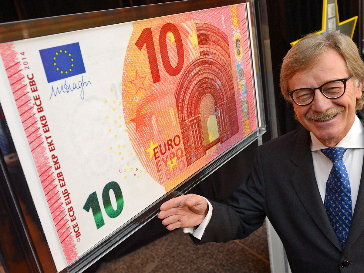 Новая купюра достоинством 10 евро