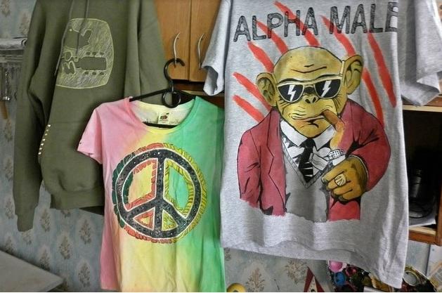Все футболки изготавливаются в единственном экземпляре