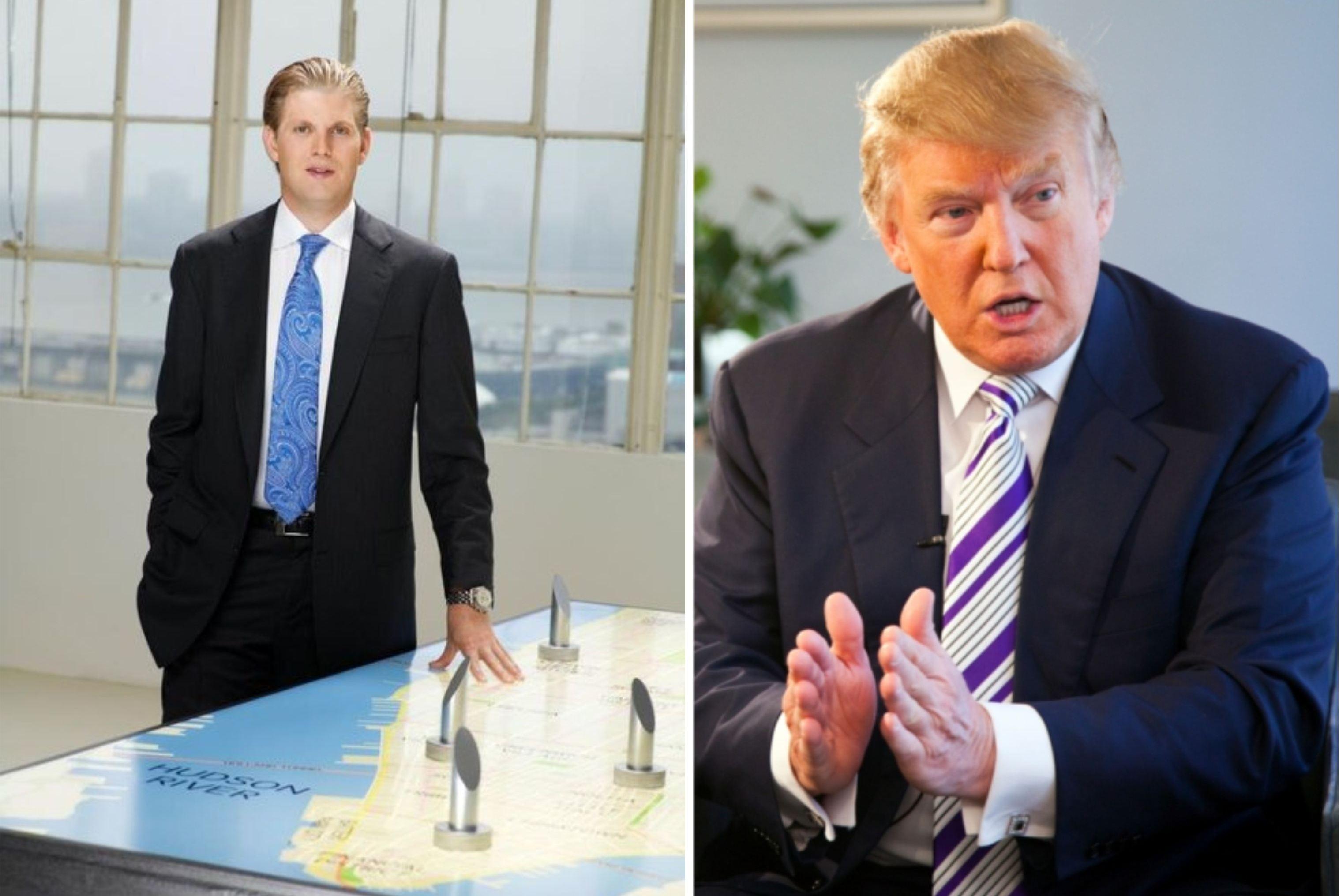 Сын Эрик пошел по стопам отца, строительного магната Дональда Трампа