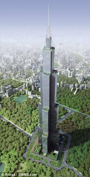 Sky City - это скорее мини-город, а не просто небоскреб.