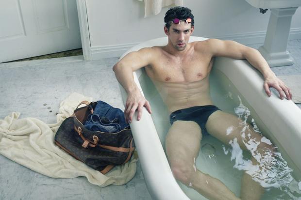 Пловец Майкл Фелпс в рекламе Louis Vuitton