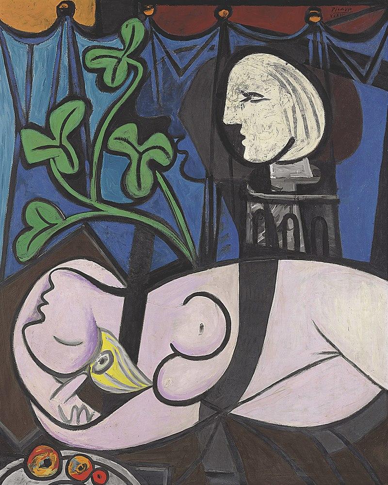 """""""Обнажённая, зелёные листья и бюст"""", автор - Пабло Пикассо"""