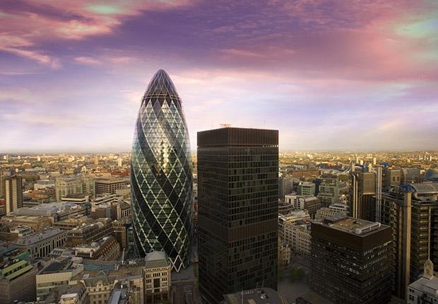 Лондонский огурец также очень энергоэффективное здание