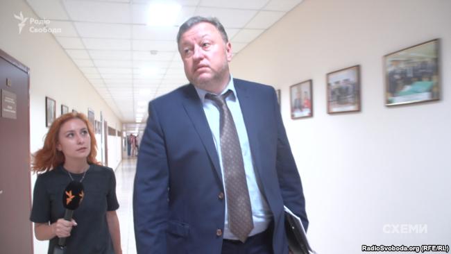 Виктор Шемчук отказался отвечать на вопросы журналистов