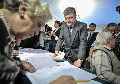 Порошенко побеждает на выборах