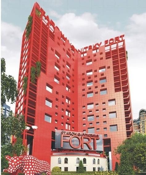 Башня №4 - красная, стеклянная и с коровой