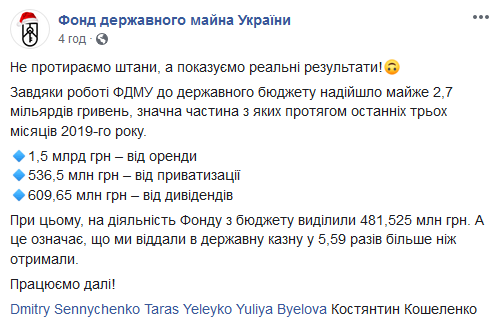 481,5 млн грн потратили на обеспечение работы фонда