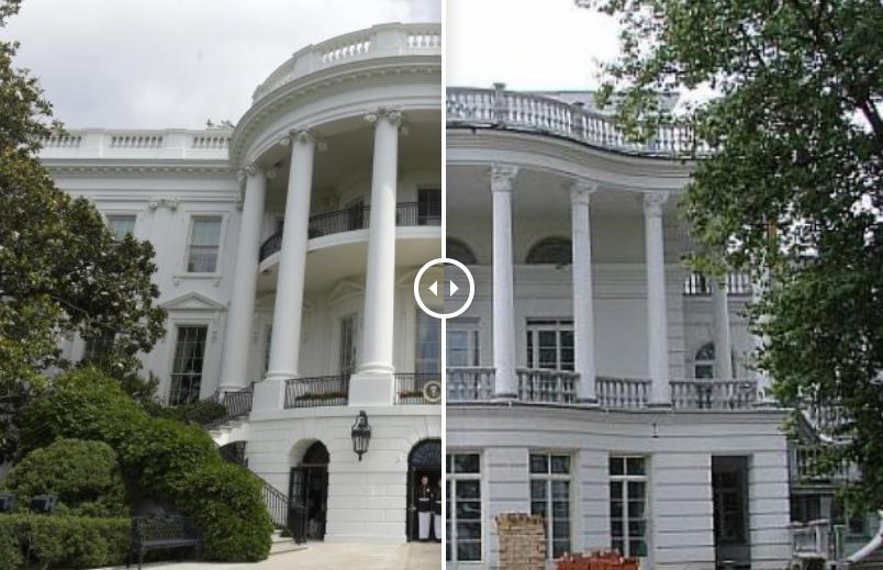 Белый дом в Вашингтоне и дом в Козине под Киевом Петра Порошенко