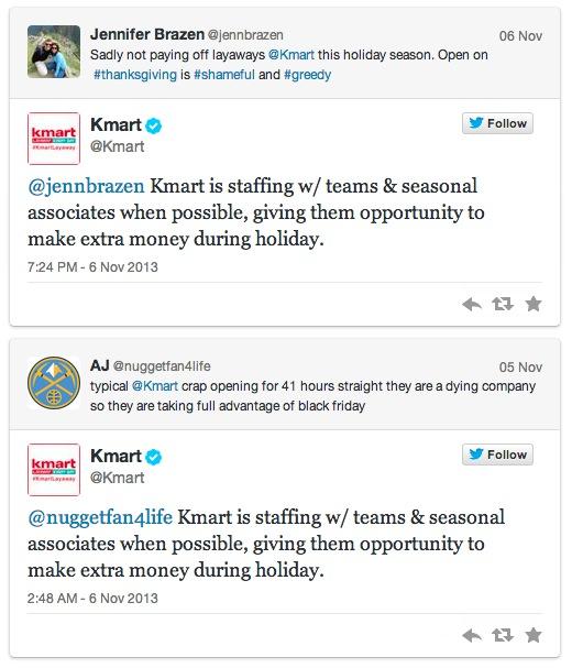 KMart считает, что работа круглые сутки на праздники помогает работникам немного подзаработать.