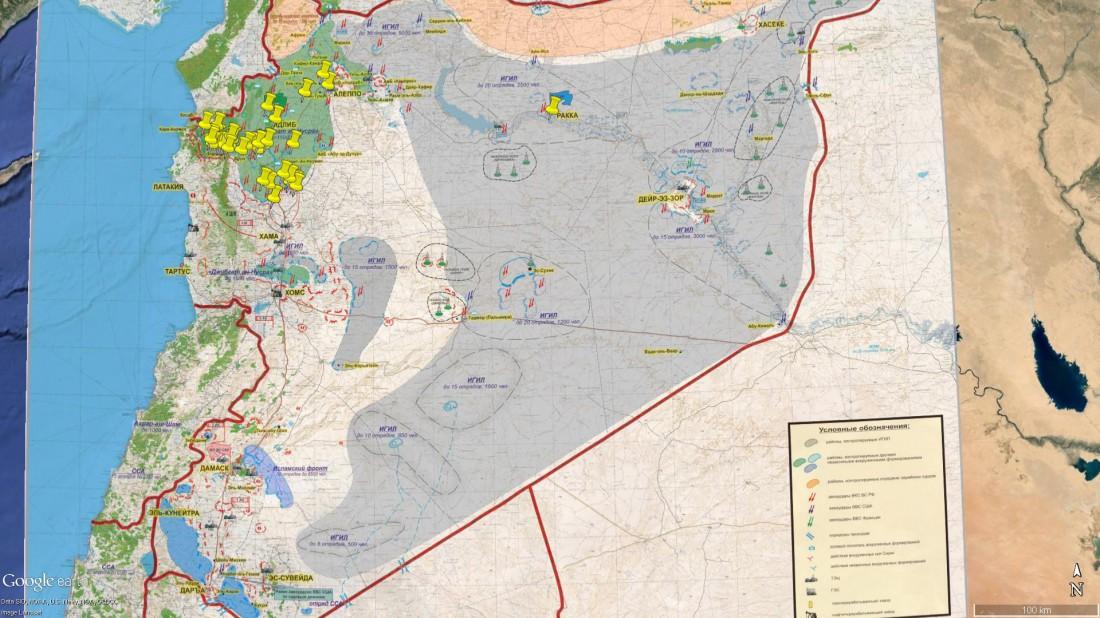 Карта бомбардировок