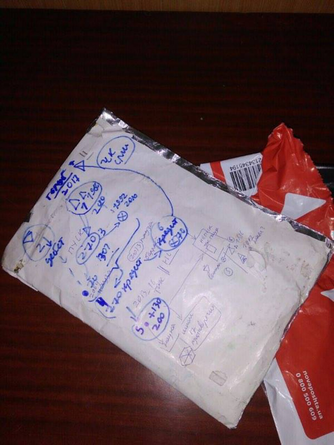 Пакет, который доставили в приемную Голуба