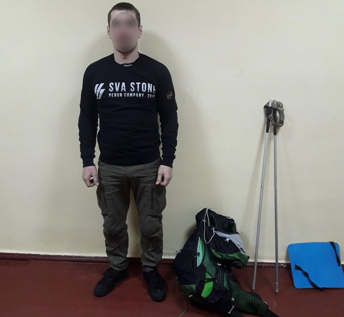 Один из нарушителей прибыл из Днепропетровской области