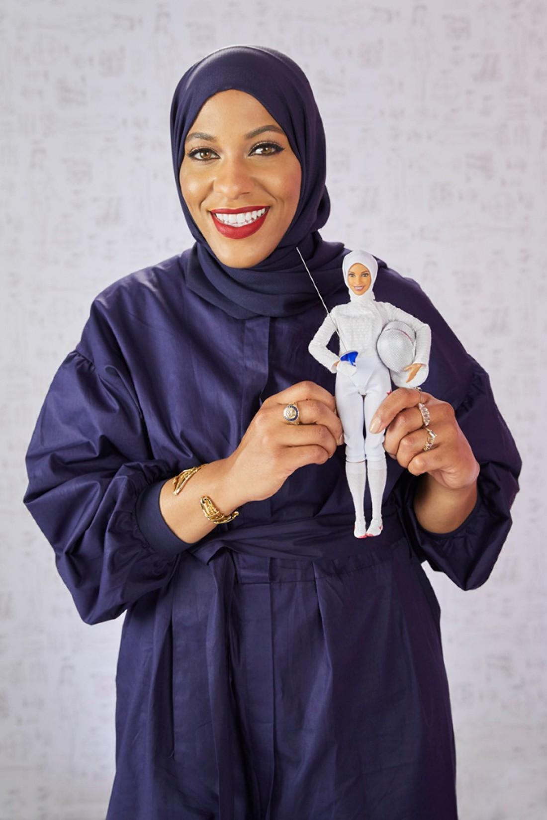 Американская фехтовальщица-саблистка Ибтихадж Мухаммад