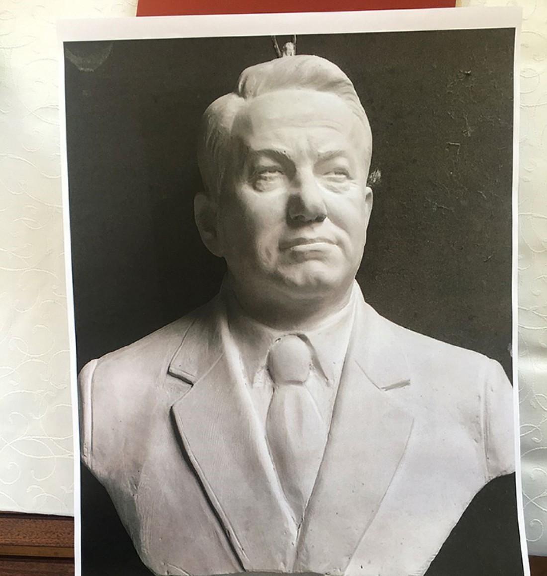 Вид будущего монумента Ельцину