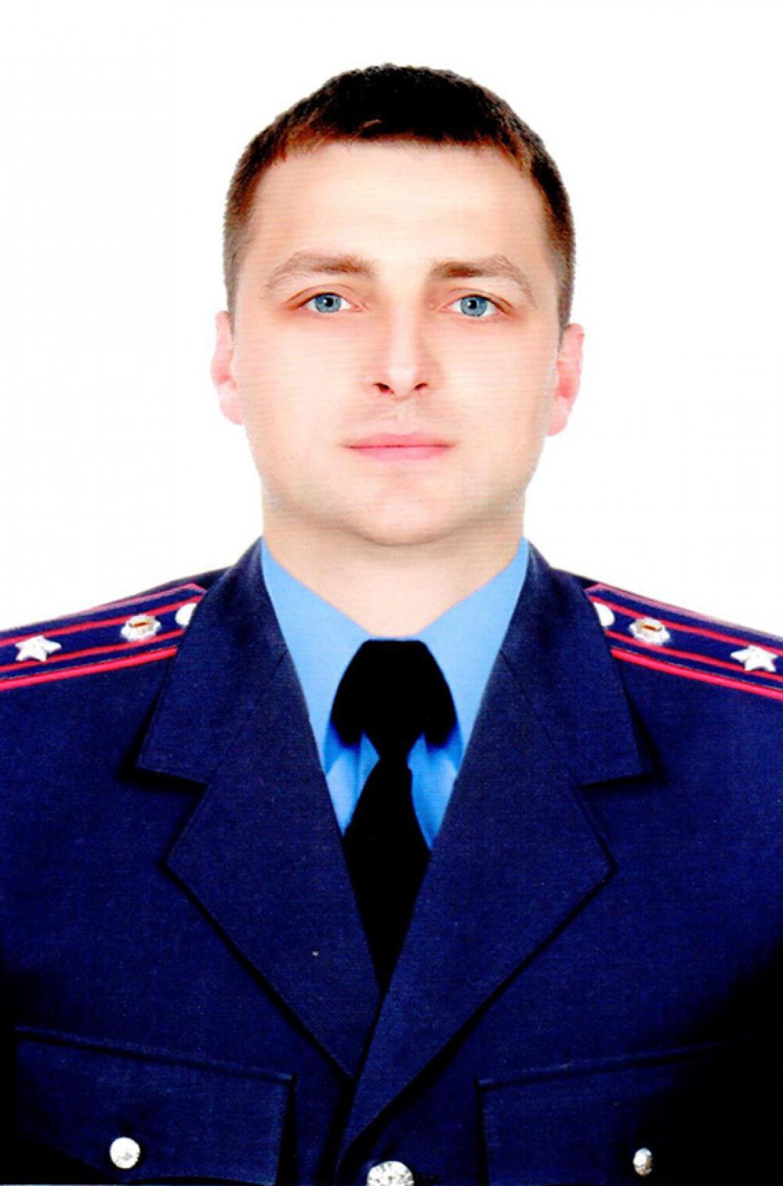 Погибший майор полиции Виталий Валецкий