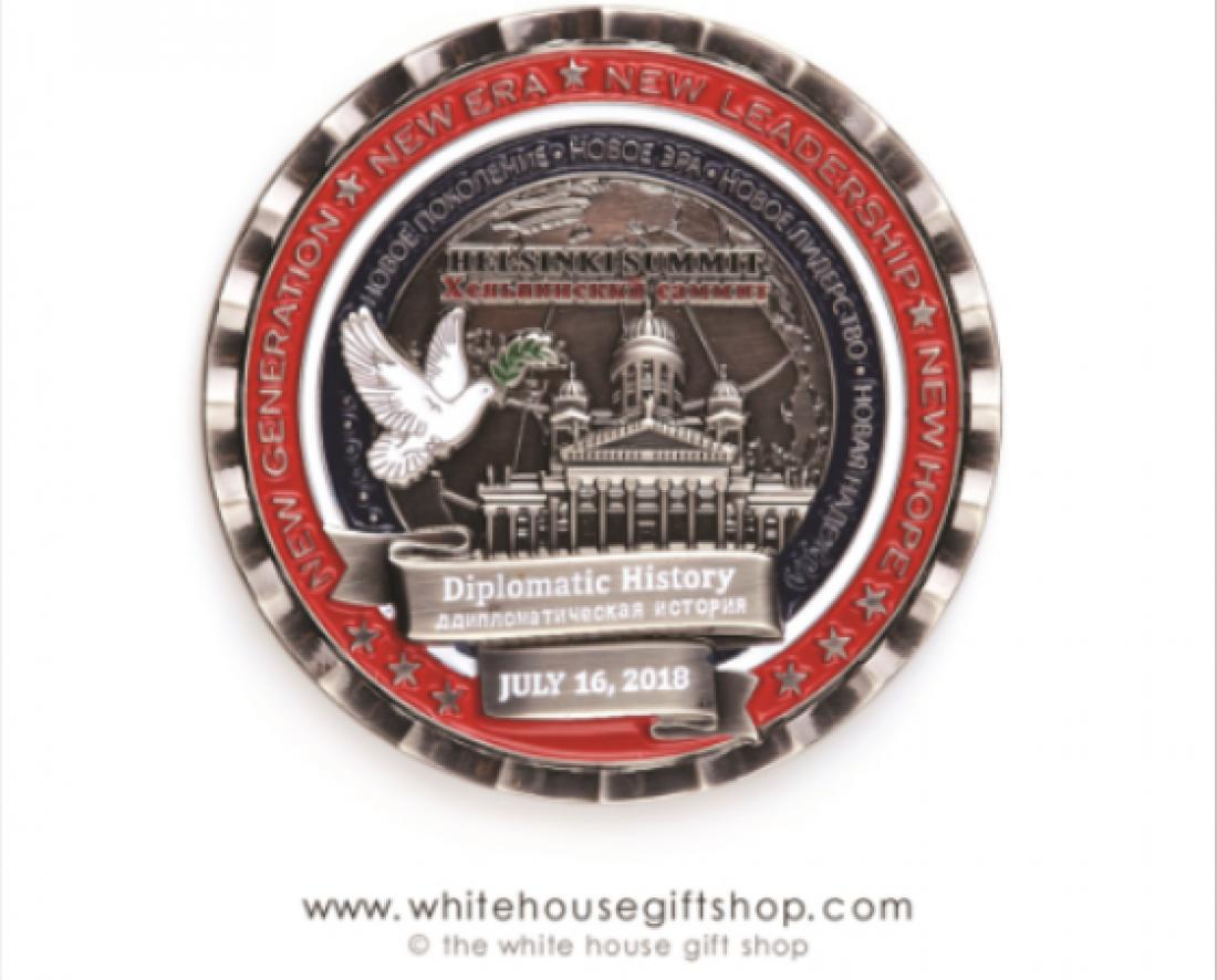 В США отчеканили монету в честь встречи Трампа и Путина с тремя ошибками